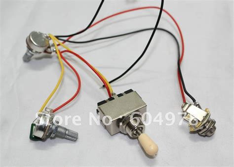 set of guitar wiring harness 3way toggle switch 1v1t 500k