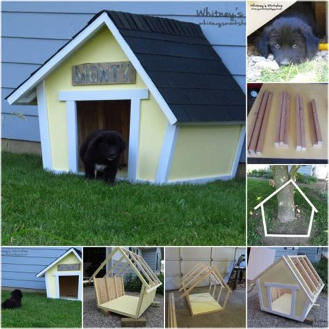 homemade dog house plans 15 brilliant diy dog houses with free plans for your furry companion diy crafts