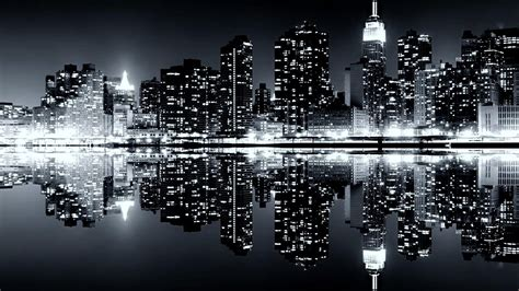 wallpaper black and white city black and white city skylines desktop background hd