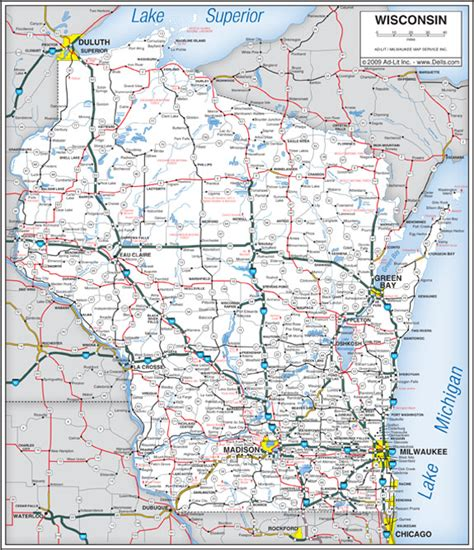 printable wisconsin road map 6 best images of wisconsin state map printable printable