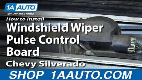 install replace windshield wiper pulse control