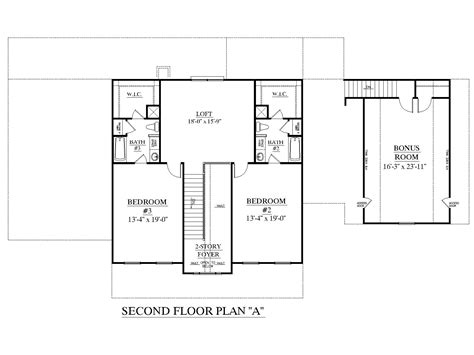 2 story floor plans without garage houseplans biz house plan 3417 a the brookhaven a