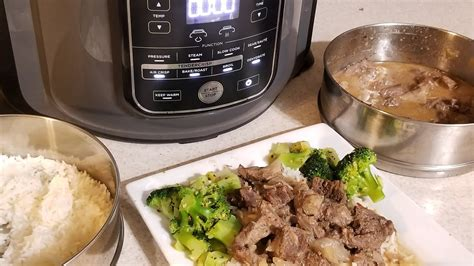 ninja foodi pot  pot beef tips  jasmine rice