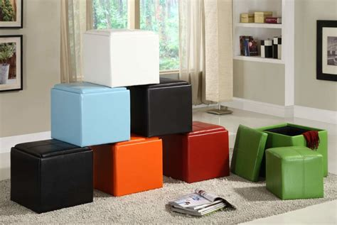 chagne cube coffee table with 4 storage ottomans uno cube storage ottoman main dartmouth four sectioned