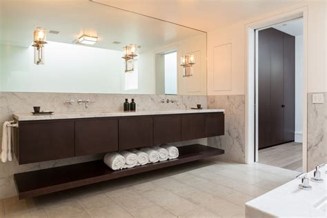 Floating Cabinets Bathroom Designing And Building Custom Cabinetry For 50 Years Linear Reflections Floating