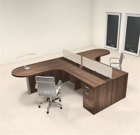 2 Person Desks by Two Person L Shaped Modern Divider Office Workstation Desk
