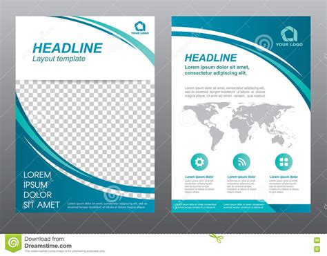 flyer template pages layout flyer template size a4 cover page stock vector