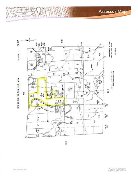 El Dorado County Property Tax Records 340 Acres In El Dorado County California