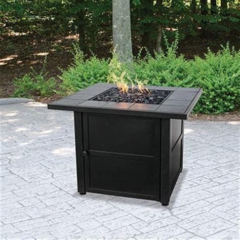Uniflame Ceramic Tile Propane Fire Pit Slate Modern Uniflame Firepit