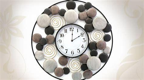 deco horloge murale horloge d 233 co murale design en m 233 tal 216 74 cm