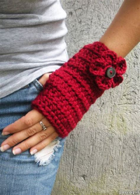 knitting pattern gloves with fingers مدل دستکش بافتنی بدون انگشت knitted gloves without fingers