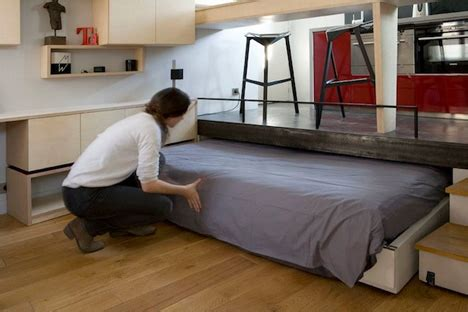 how big is a full bed ultra tiny 130 square foot apartment is big on surprises