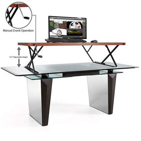 Sit To Stand Desks by Halter Adjustable Sit Stand Desk 187 Fitness Gizmos
