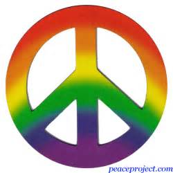 colors that represent peace the peace sign is with two fingers not o by meg cabot