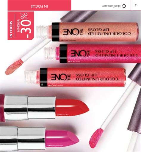 Oriflame The One Colour Unlimited Lip Gloss Evermore 30642 katalog oriflame agustus 2016 indonesia