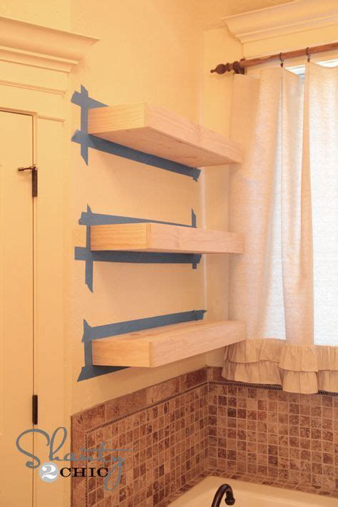 1000 ideas about floating shelves bathroom on