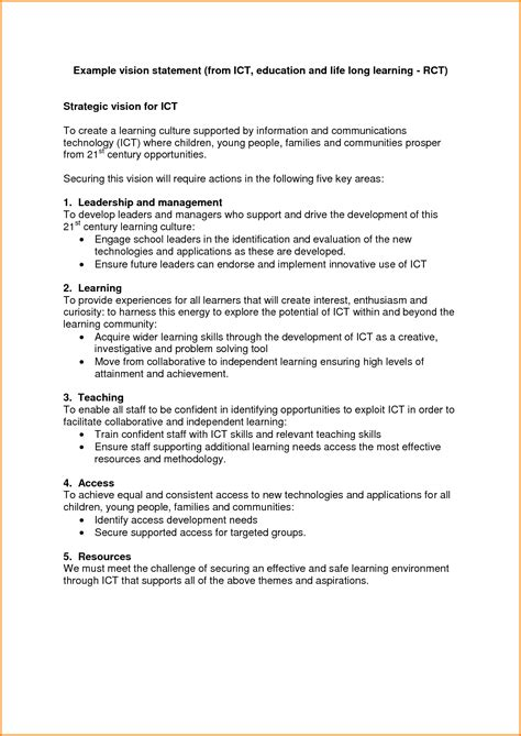 8 personal vision statement exles authorization letter