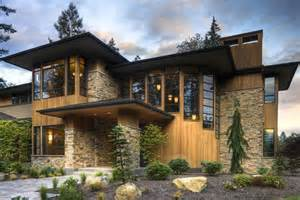 Welcoming entry and glass stair hall give this contemporary home