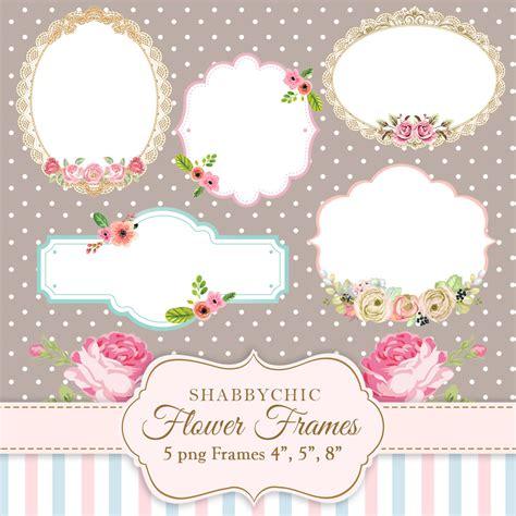shabbychic flower frames png frames flowers label
