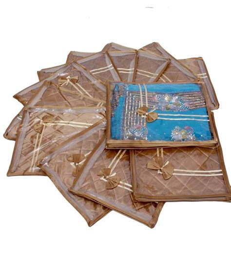 Anget Sari Jahe Inner Box buy kuber industries gold saree covers set of 12 pieces at best prices in india snapdeal