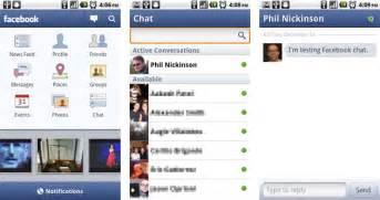 Facebook para sony ericsson android ahora con chat blogsony