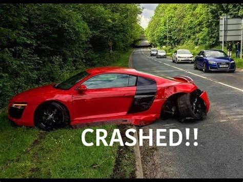 Audi R8 Crash by Audi R8 Crashes Leaving Supercar Meet Turbo And