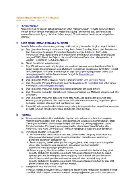 format laporan tahunan hrd panduan laporan kpd ros