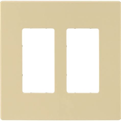 home depot l switch eaton 2 switch decorator duplex wall plate ivory