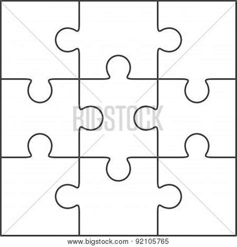 printable puzzle template 8 5 x 11 jigsaw puzzle blank template 3x3 poster id 92105765
