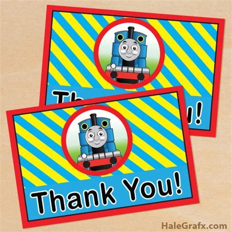 Engine Birthday Card Template by Free Printable The Tank Engine Thank You Card