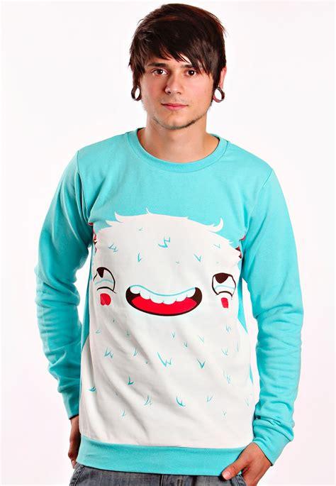 Sweater Drop Dead Drop Dead Curious Crewneck Lightblue Sweater