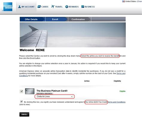 Amex Airline Fee Credit Gift Card - amex plat airline 200 dollar fee credit 2 ren 233 s pointsren 233 s points