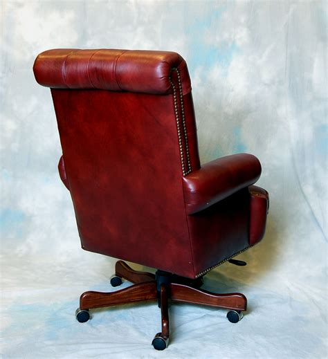 Large Desk Chair large genuine leather executive office desk chair ebay