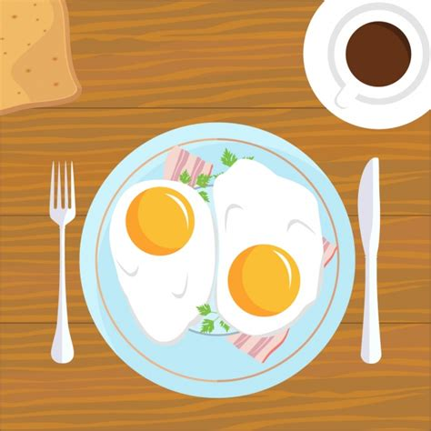 breakfast background breakfast background design vector free
