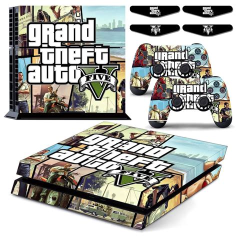 Ps4 Sticker Gta by Gtd 5 Grand Theft Auto V Ps4 Designer Vinyl Skin Decal