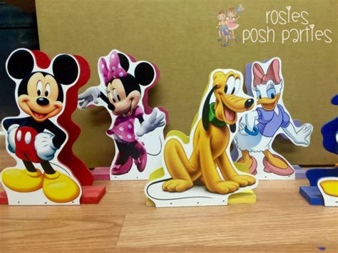Sleeves Set Mickey Pluto Guffy mickey mouse centerpiece napkin holders for birthday or any themed event minnie mouse donald