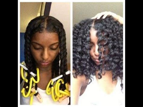 how to flexi rod relaxed fine hair natural hair twist out perm rods and flexi rods
