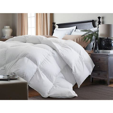 cotton king comforter down white alternative 233 thread count cotton twill king