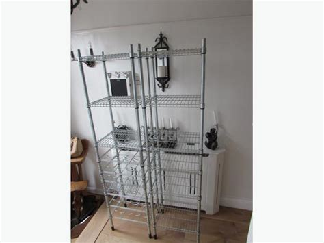 Ikea Omar Unit Rak 1 ikea omar galvanised shelving and wine rack garage storage