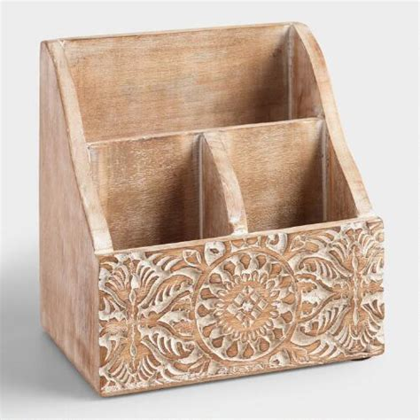 matching office desk accessories mini carved wood desk organizer market