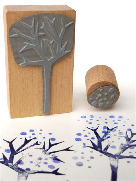 rubber st craft ideas rubber st set spiky tree with dots