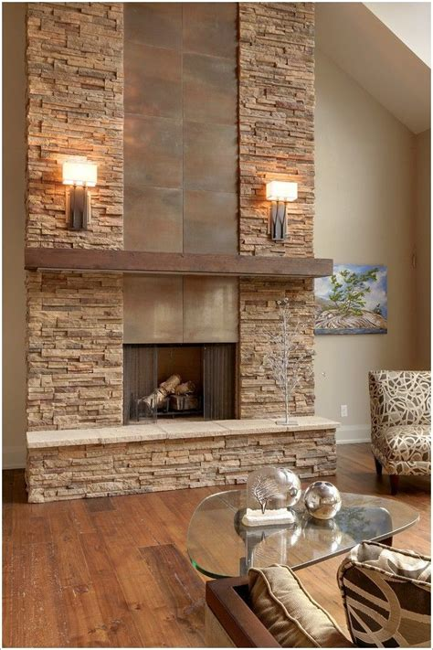 stone fireplace wall gorgeous dream house pinterest fireplaces glasses
