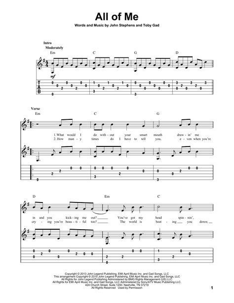 printable lyrics all of me all of me guitar tab by john legend guitar tab 160073