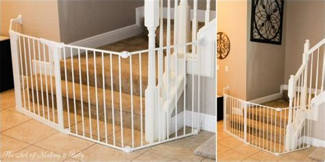 Baby Proof Floor L by Diy Baby Gates For Stairs White Wooden Home Inspiring