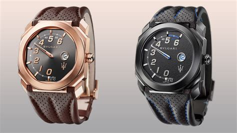 maserati fans bulgari s two new octo timepieces for maserati fans robb