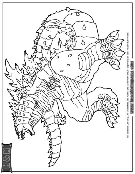 science fiction monster godzilla coloring page coloring home