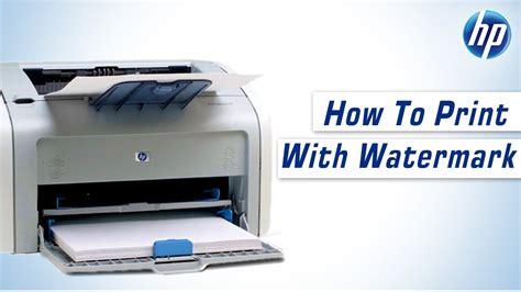 hp laserjet 1020 reset spooler hp laserjet 1020 plus how to print with watermark youtube