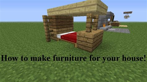 how to make a house in minecraft how to make furniture for your house with images minecraft blog