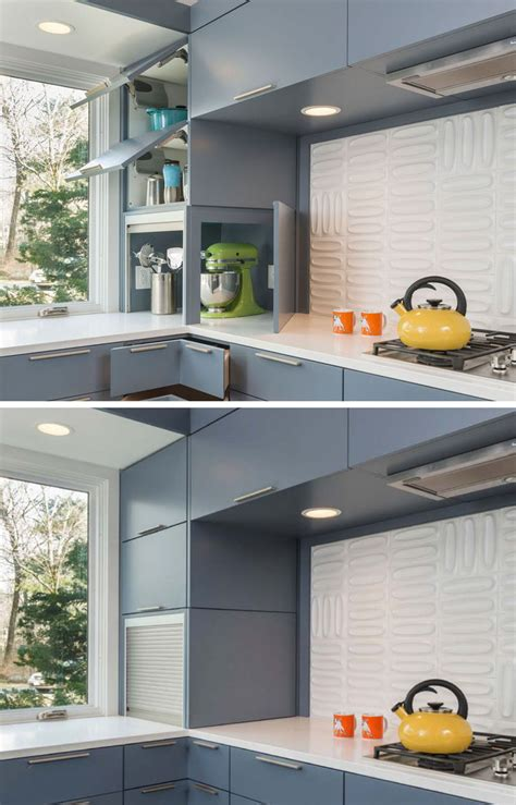 Kitchen To Garage Door by Kitchen Design Idea Store Your Kitchen Appliances In An