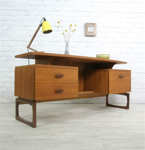 g plan retro vintage teak mid century style desk